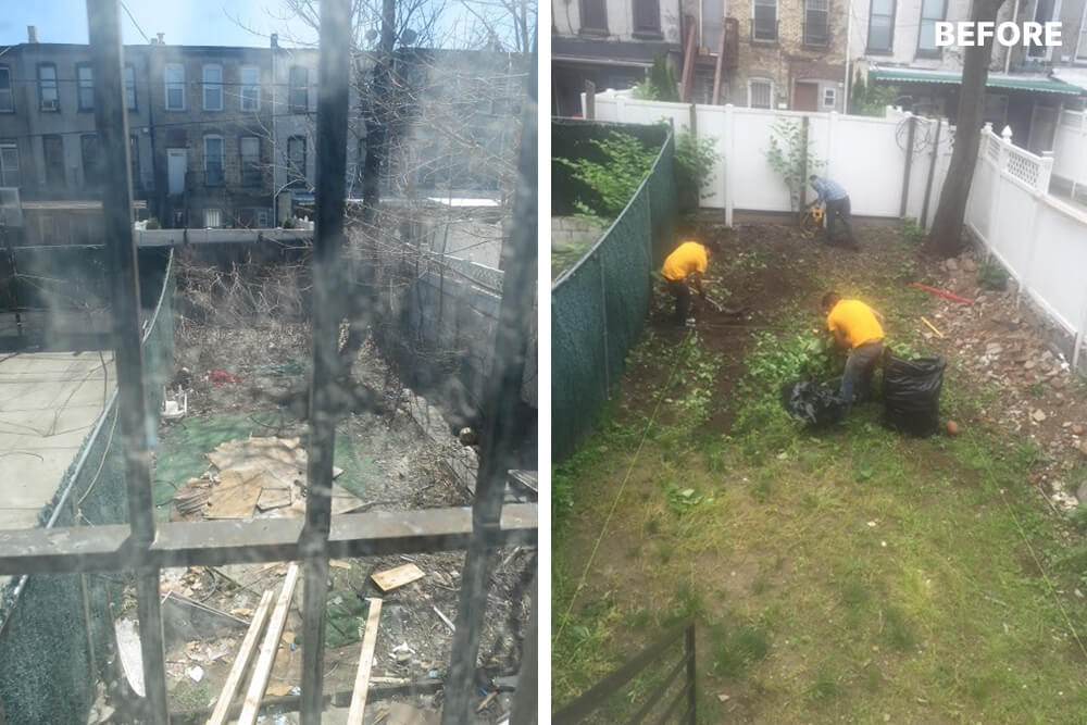 Image of a Brooklyn backyard before being remodeled
