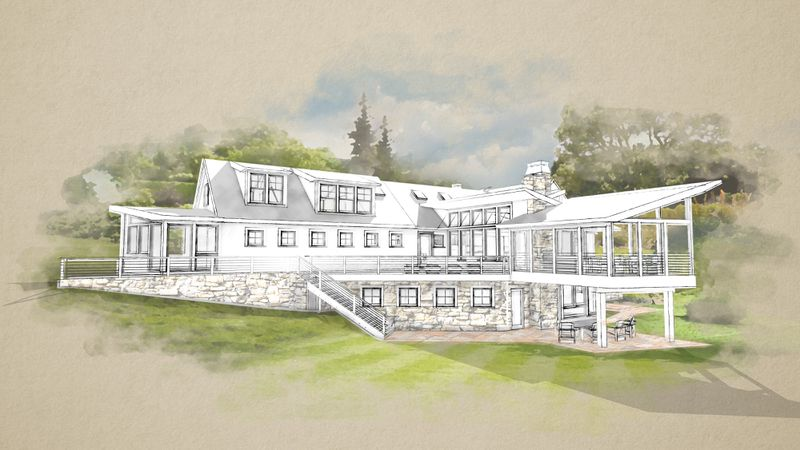 Fall 2021, TOH TV project, Concord Country Cape, architectural rendering