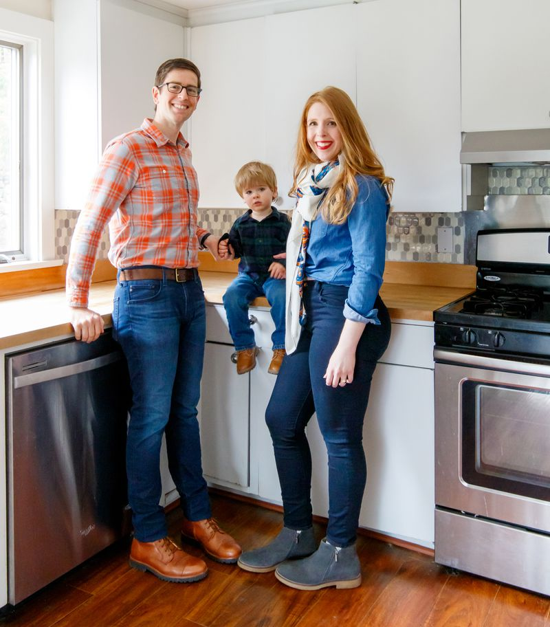Fall 2021, TOH TV project, Concord Country Cape, Lincoln and Megan Pasquina with their son