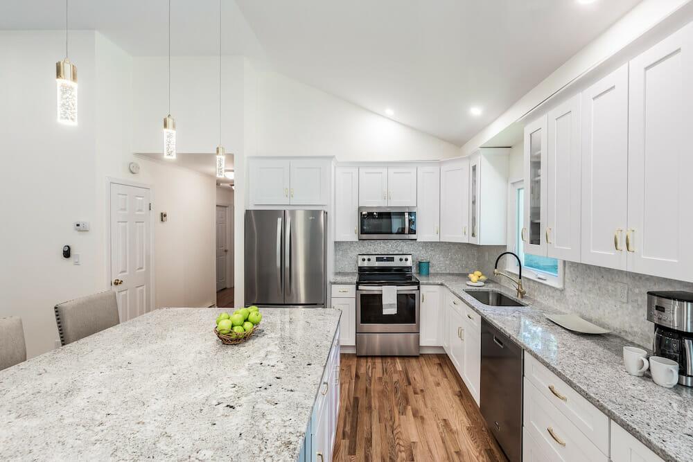 Image of granite countertops in kitchen