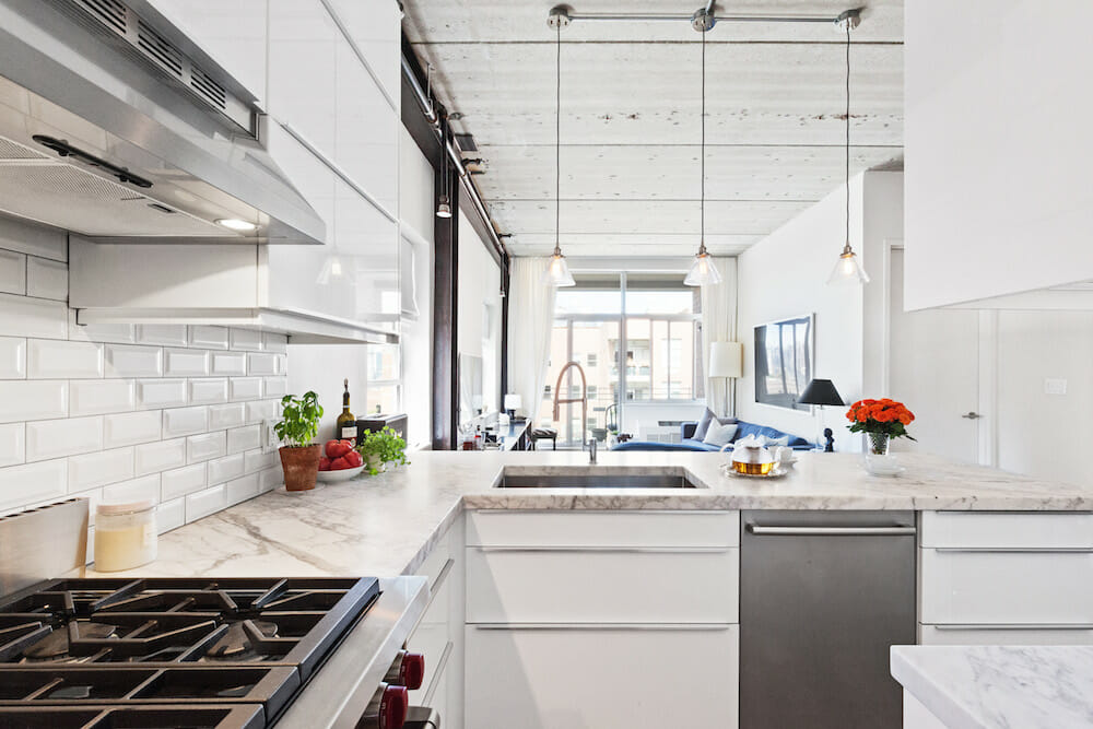 Image of marble kitchen countertops