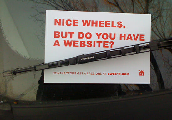 A contractor with a website is a rare breed