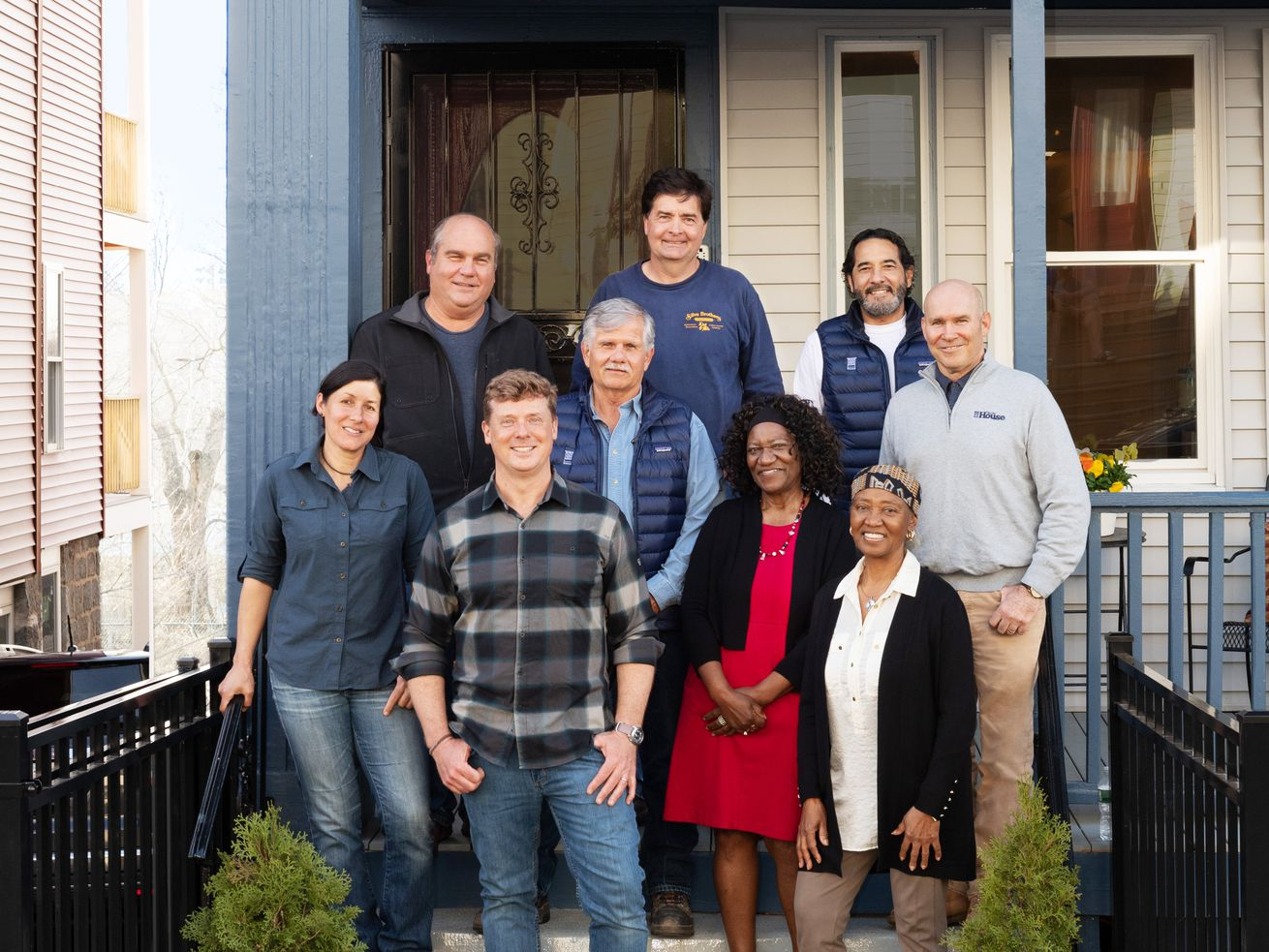 Fall 2021, Dorchester reveal, TOH crew and homeowners in front