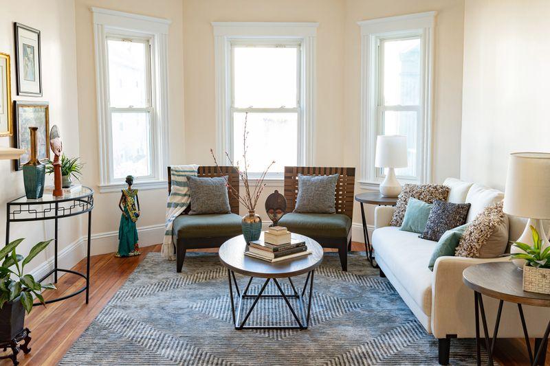 Fall 2021, Dorchester reveal, 2nd floor living room