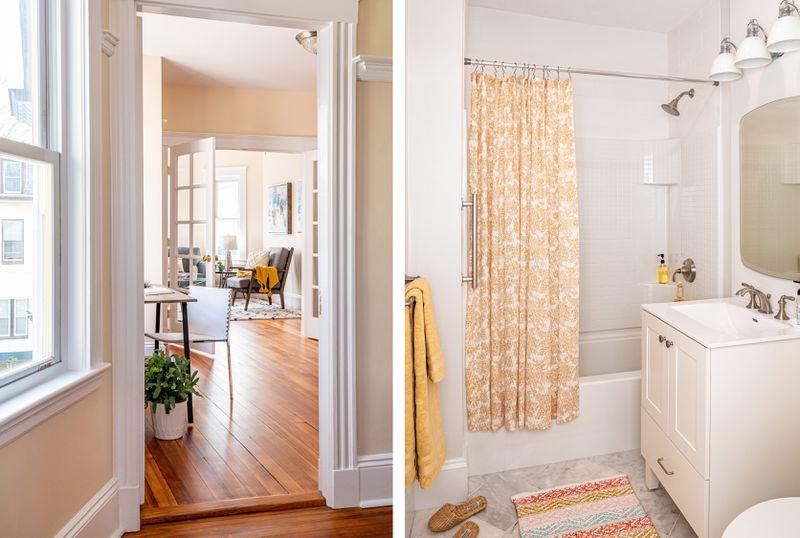 Fall 2021, Dorchester reveal, 3rd floor flooring and bathroom