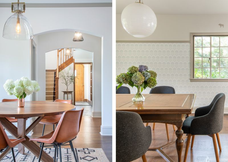 Fall 2021 House Tour, Tudor Revival breakfast area and dining room