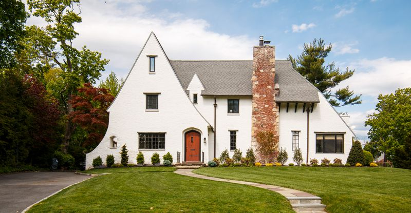 Fall 2021 House Tour, Tudor Revival front exterior