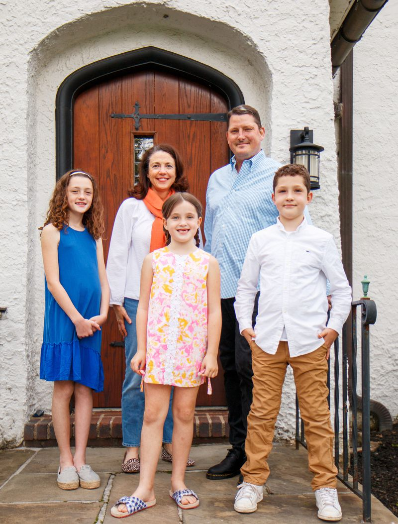 Fall 2021 House Tour, Tudor Revival Breese family portrait