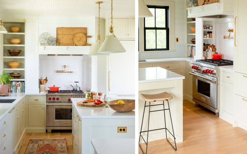 Fall 2021 Before & After Kitchen, kitchen galley,  view, storage